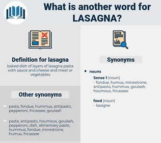 lasagna, synonym lasagna, another word for lasagna, words like lasagna, thesaurus lasagna