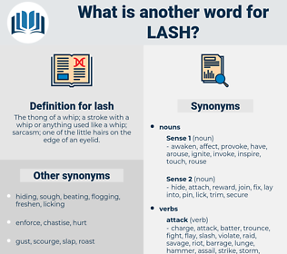 lash, synonym lash, another word for lash, words like lash, thesaurus lash