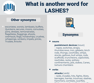 lashes, synonym lashes, another word for lashes, words like lashes, thesaurus lashes