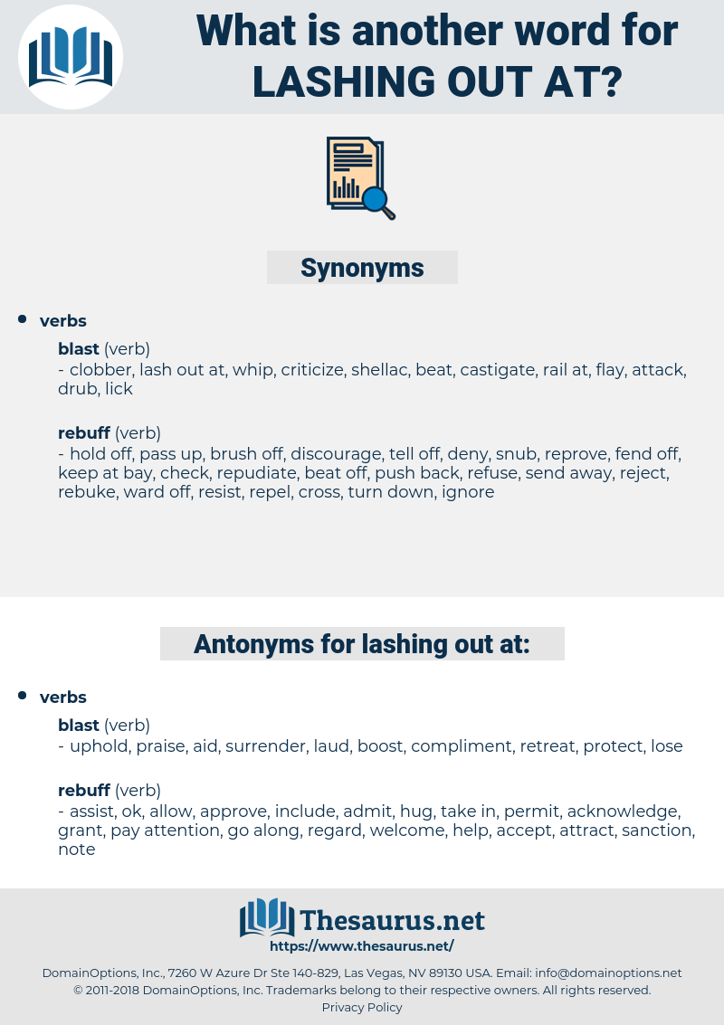 lashing out at, synonym lashing out at, another word for lashing out at, words like lashing out at, thesaurus lashing out at