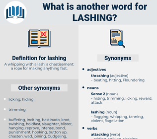 lashing, synonym lashing, another word for lashing, words like lashing, thesaurus lashing