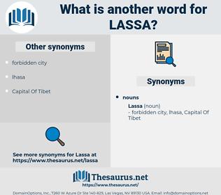 lassa, synonym lassa, another word for lassa, words like lassa, thesaurus lassa