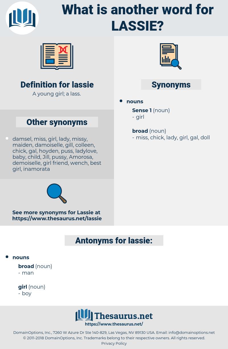lassie, synonym lassie, another word for lassie, words like lassie, thesaurus lassie