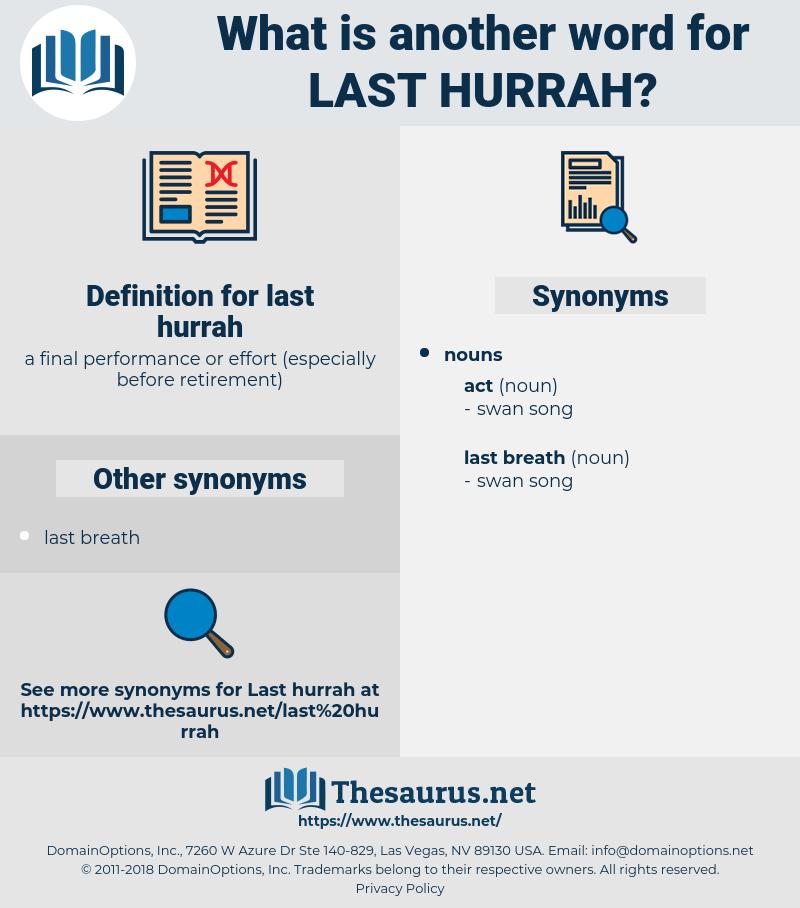 last hurrah, synonym last hurrah, another word for last hurrah, words like last hurrah, thesaurus last hurrah