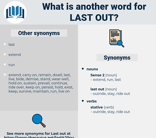 last out, synonym last out, another word for last out, words like last out, thesaurus last out