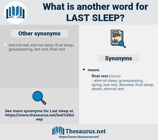 last sleep, synonym last sleep, another word for last sleep, words like last sleep, thesaurus last sleep