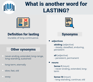 lasting, synonym lasting, another word for lasting, words like lasting, thesaurus lasting