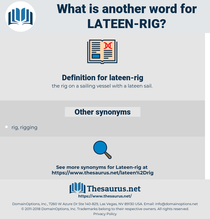 lateen-rig, synonym lateen-rig, another word for lateen-rig, words like lateen-rig, thesaurus lateen-rig