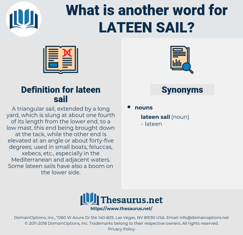 lateen sail, synonym lateen sail, another word for lateen sail, words like lateen sail, thesaurus lateen sail