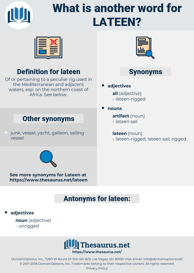 lateen, synonym lateen, another word for lateen, words like lateen, thesaurus lateen