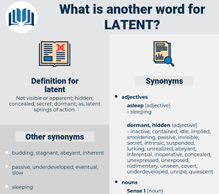 latent, synonym latent, another word for latent, words like latent, thesaurus latent