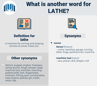 lathe, synonym lathe, another word for lathe, words like lathe, thesaurus lathe
