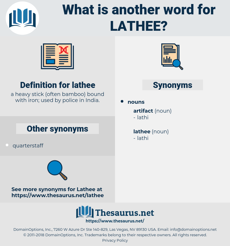 lathee, synonym lathee, another word for lathee, words like lathee, thesaurus lathee
