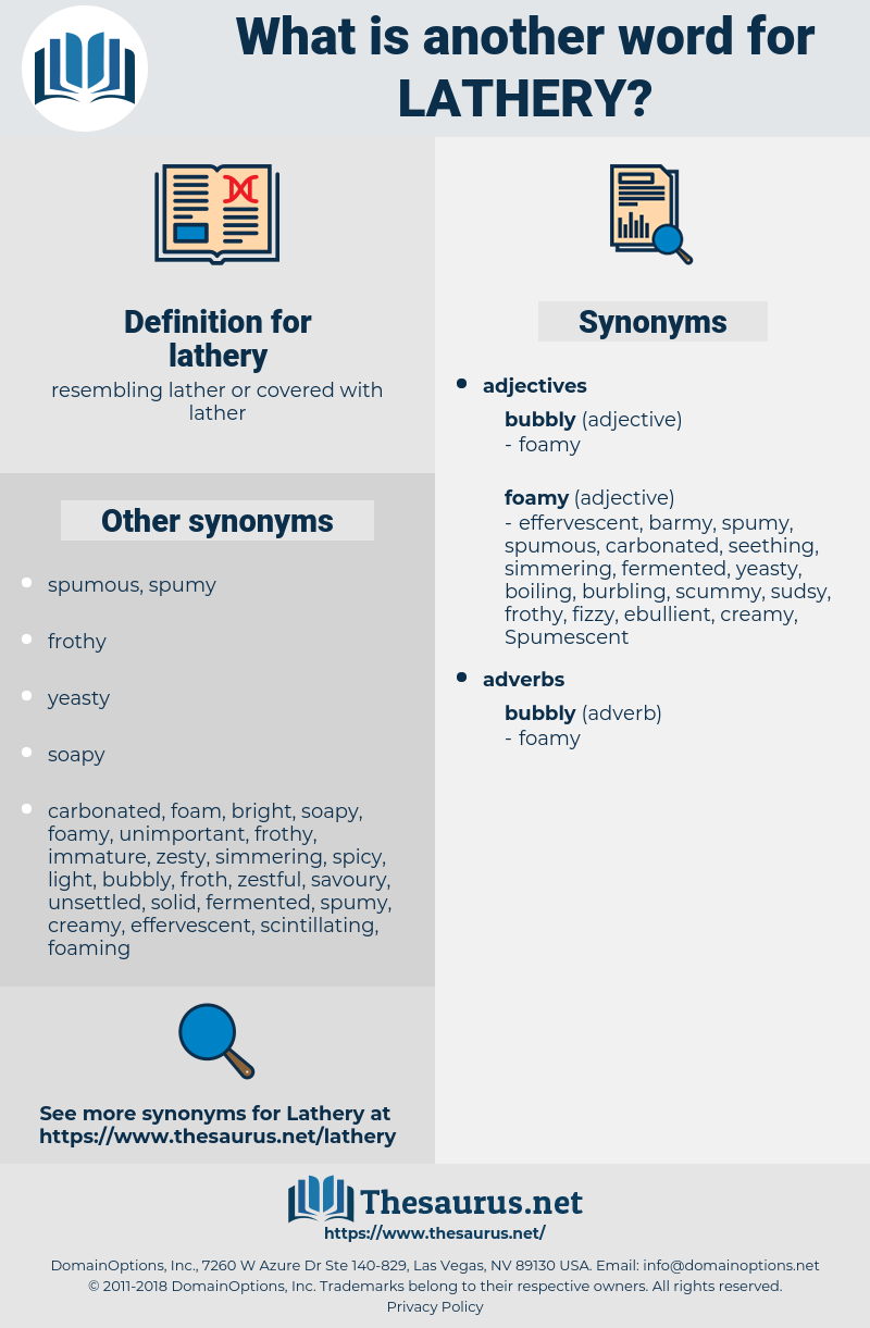 lathery, synonym lathery, another word for lathery, words like lathery, thesaurus lathery