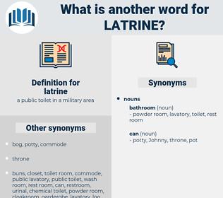 latrine, synonym latrine, another word for latrine, words like latrine, thesaurus latrine