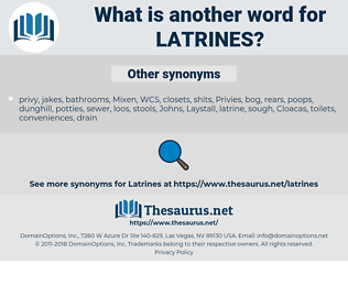 Latrines, synonym Latrines, another word for Latrines, words like Latrines, thesaurus Latrines
