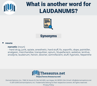 laudanums, synonym laudanums, another word for laudanums, words like laudanums, thesaurus laudanums