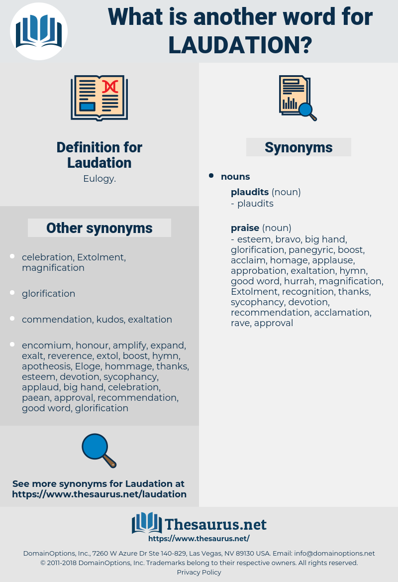 Laudation, synonym Laudation, another word for Laudation, words like Laudation, thesaurus Laudation