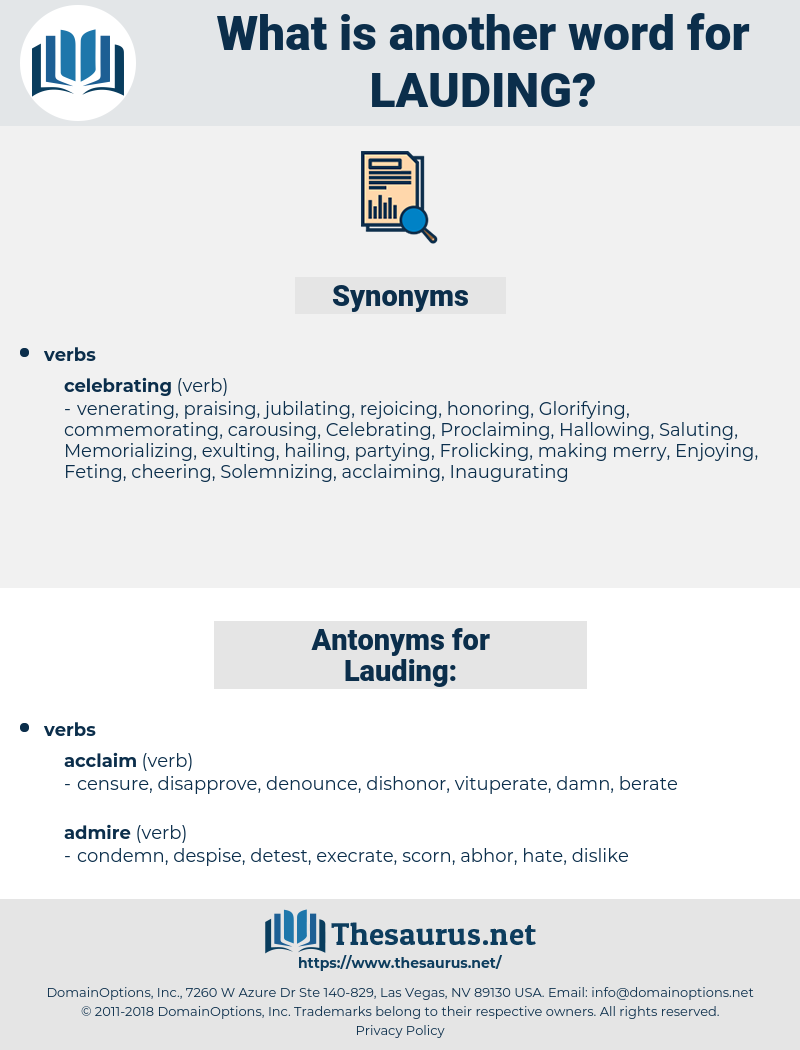Lauding, synonym Lauding, another word for Lauding, words like Lauding, thesaurus Lauding