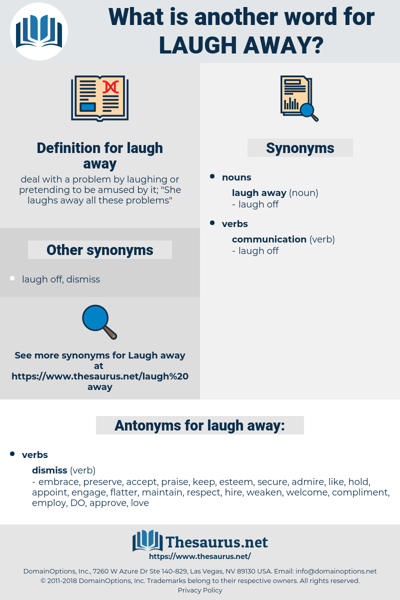 laugh away, synonym laugh away, another word for laugh away, words like laugh away, thesaurus laugh away