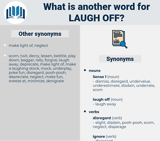 laugh off, synonym laugh off, another word for laugh off, words like laugh off, thesaurus laugh off