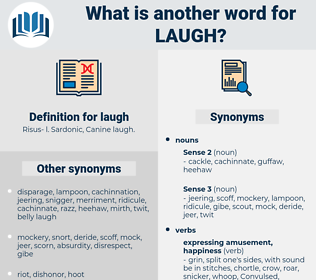 laugh, synonym laugh, another word for laugh, words like laugh, thesaurus laugh