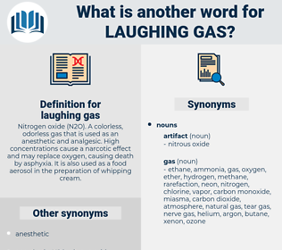 laughing gas, synonym laughing gas, another word for laughing gas, words like laughing gas, thesaurus laughing gas