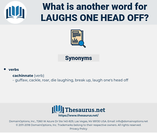 laughs one head off, synonym laughs one head off, another word for laughs one head off, words like laughs one head off, thesaurus laughs one head off