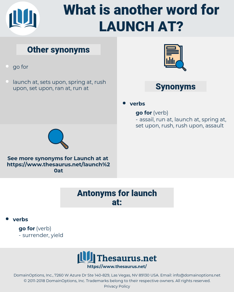 launch at, synonym launch at, another word for launch at, words like launch at, thesaurus launch at
