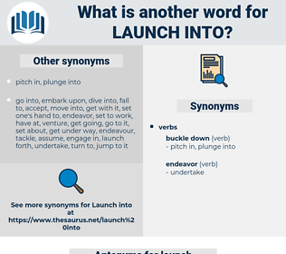 launch into, synonym launch into, another word for launch into, words like launch into, thesaurus launch into