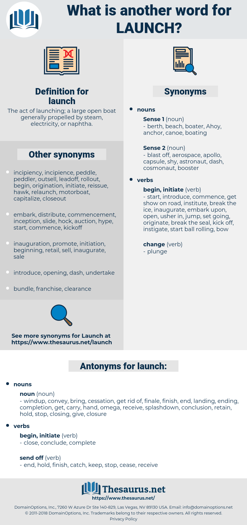 launch, synonym launch, another word for launch, words like launch, thesaurus launch