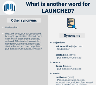 Launched, synonym Launched, another word for Launched, words like Launched, thesaurus Launched