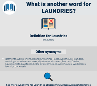 Laundries, synonym Laundries, another word for Laundries, words like Laundries, thesaurus Laundries