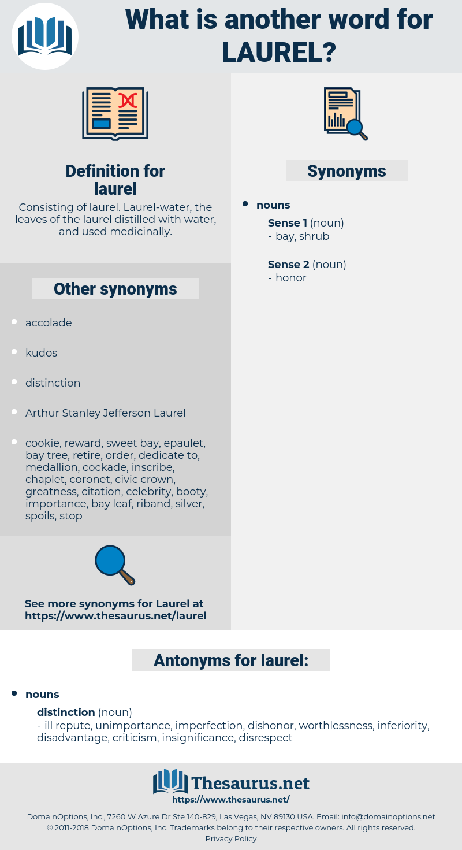 laurel, synonym laurel, another word for laurel, words like laurel, thesaurus laurel