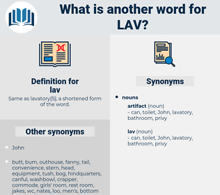 lav, synonym lav, another word for lav, words like lav, thesaurus lav