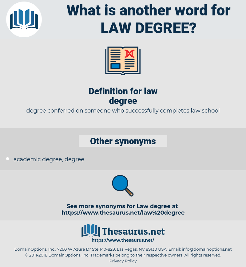 law degree, synonym law degree, another word for law degree, words like law degree, thesaurus law degree