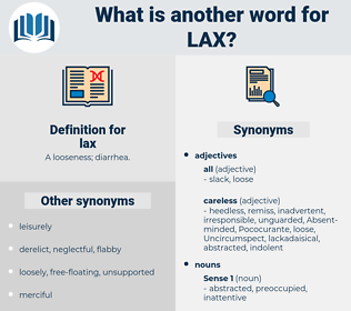 lax, synonym lax, another word for lax, words like lax, thesaurus lax