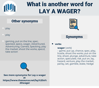 lay a wager, synonym lay a wager, another word for lay a wager, words like lay a wager, thesaurus lay a wager