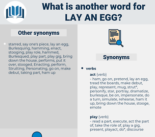 lay an egg, synonym lay an egg, another word for lay an egg, words like lay an egg, thesaurus lay an egg