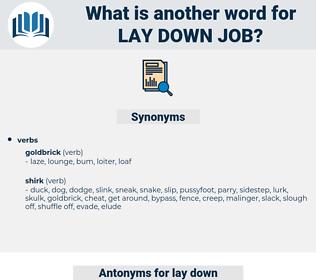 lay down job, synonym lay down job, another word for lay down job, words like lay down job, thesaurus lay down job