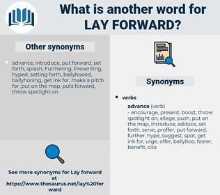 lay forward, synonym lay forward, another word for lay forward, words like lay forward, thesaurus lay forward