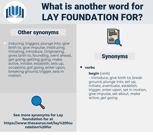 lay foundation for, synonym lay foundation for, another word for lay foundation for, words like lay foundation for, thesaurus lay foundation for