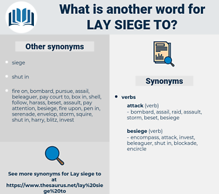 lay siege to, synonym lay siege to, another word for lay siege to, words like lay siege to, thesaurus lay siege to