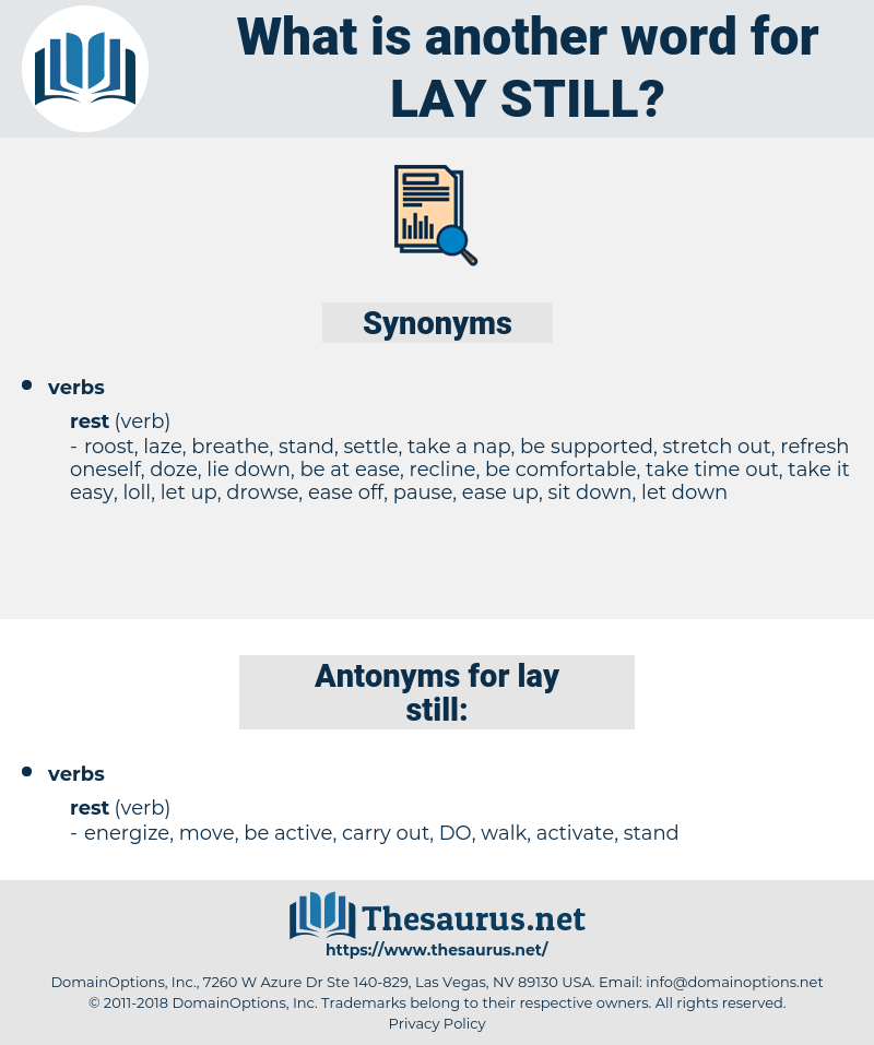 lay still, synonym lay still, another word for lay still, words like lay still, thesaurus lay still