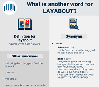 layabout, synonym layabout, another word for layabout, words like layabout, thesaurus layabout