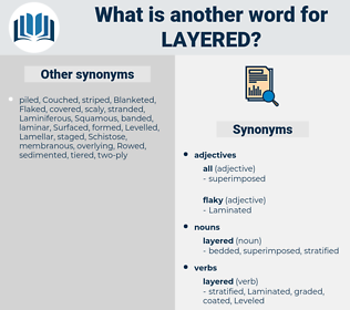 layered, synonym layered, another word for layered, words like layered, thesaurus layered