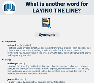 laying the line, synonym laying the line, another word for laying the line, words like laying the line, thesaurus laying the line