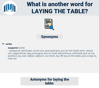 laying the table, synonym laying the table, another word for laying the table, words like laying the table, thesaurus laying the table