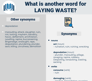 laying waste, synonym laying waste, another word for laying waste, words like laying waste, thesaurus laying waste