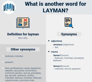 layman, synonym layman, another word for layman, words like layman, thesaurus layman